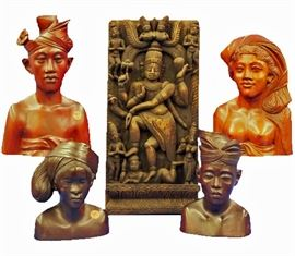 Variety of Wood Carvings