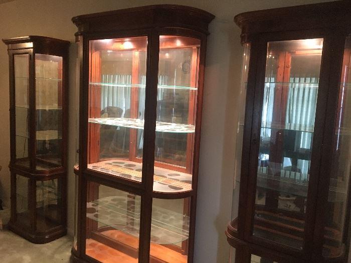 Nice curio display cabinets