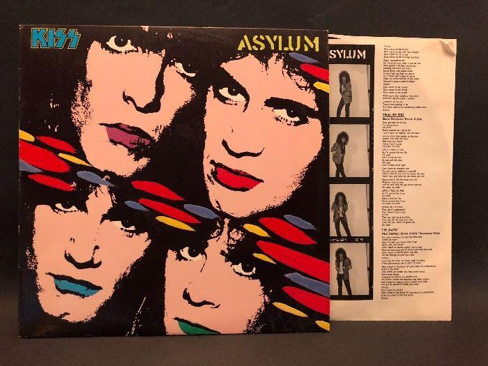 Vintage LP Album, KISS 'Asylum'