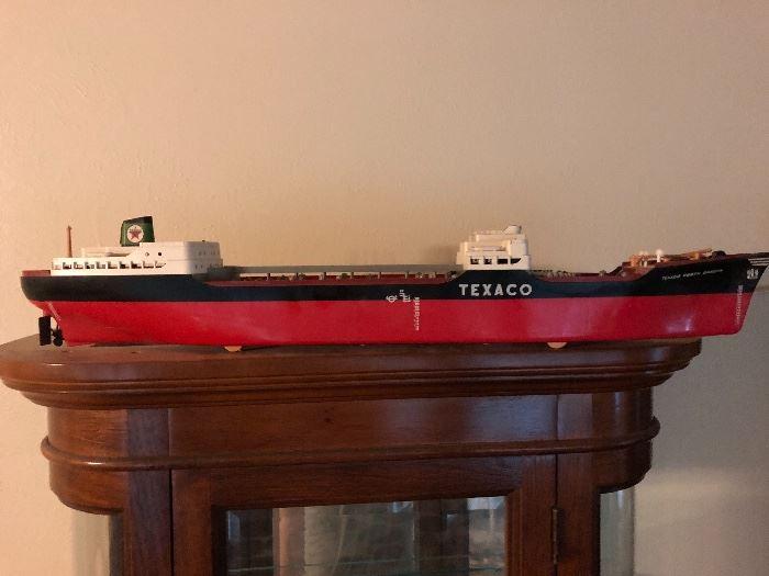 Vintage 1960's Texaco oil tanker ship toy
