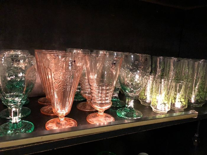 Vintage glassware from the depression age to the 60's