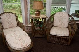 Antique Wicker Set