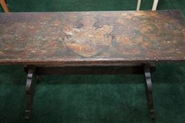 Folk Art Bench circa 1904