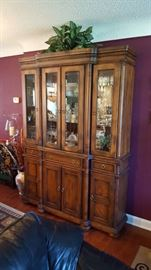 Large lighted china cabinet $200