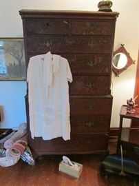 Antique Wedding Dress and Dresser