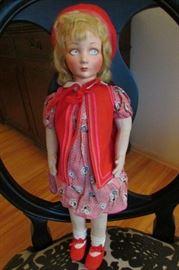 "Lenci 18"" Doll 1920's"