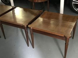 "Matching French side tables (w-27"", H -21"") with a matching coffee table (L-56"", w-27"")"