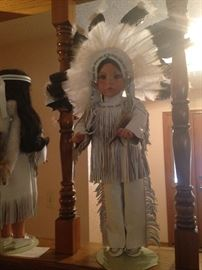 Native American Doll with headdress