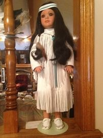Native American Doll and Pampoose