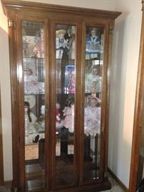 4 Beautiful Doll/Curio Cabinets. Glass can hold plates