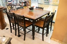 EXTRA NICE counter height table and chairs!