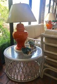 Orange lamp is sold.