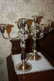 Pair of Baroque by Wallace Silver Candelabras