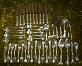 49 Pieces of Gorham Chantilly Sterling Silver Flatware