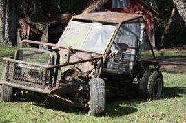 Who wants a project?  This Dune Buggy was pulled out of the barn.  The frame is from a 56 or 57 Chevy.  Thats all I can tell you about it.  MAKE AN OFFER!