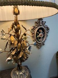 Vintage Tole lamp