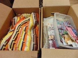 2 Boxes of yarn.