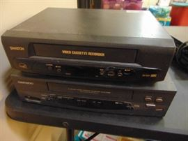 2 VHS players.