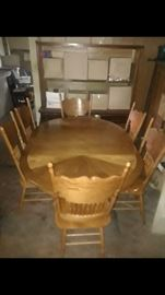 Dinette Set with six chairs.  One chair needs repair. $150.00