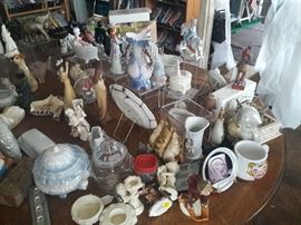 Vintage Figurines and Collectibles price range from $5.00 to $25.00.