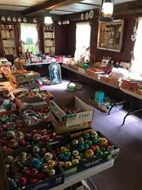 Holiday room filled with Vintage Christmas, Easter etc..