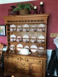 Nice Pine Stepback Cupboard