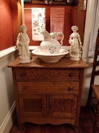 Nice Antique Oak Washstand
