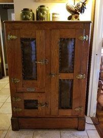 Super Nice Antique Oak Ice Box