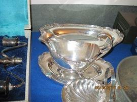 Gravy Boat silver plate