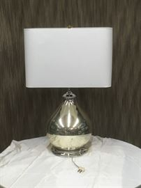 Silver Base Glass Lamp with Rectangle Shade BD8009  https://www.ebay.com/itm/123352990394