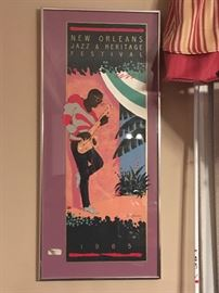 1985 New Orleans Jazz and Heritage Festival Poster Framed 1985 by Tore Wallin  https://www.ebay.com/itm/113240854148