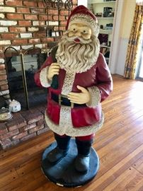 Plaster Santa Clause, nearly life sized
