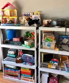 vintage toys, puzzles, craft items, board games, Legos, stuffed animals