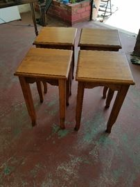 Set of 4 Chow tables.