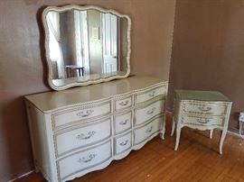 Drexel triple dresser & nightstand