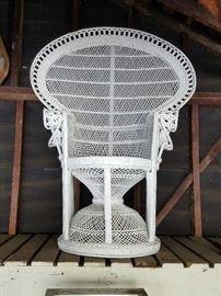 """Vintage """"Emmanuel"""" wicker chair."""