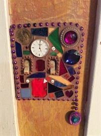Light switch plate art by Betty.