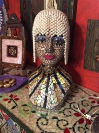 Absolutely gorgeous mosaic bust by Betty