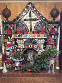 Beautiful shrine with other treasures by Betty.