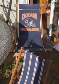 Vtg Chicago Bears beach chair