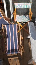 Misc. Vintage Director's and Beach Chairs