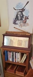 Vintage wood/mirror box used on bank counter