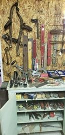 Vintage tools, levels, planes, measuring tapes