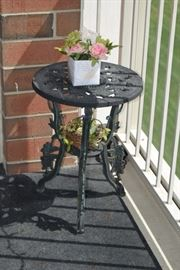 Wrought Iron Patio Side Table