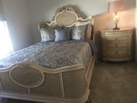 Pulaski French Style Queen Bed and nightstand
