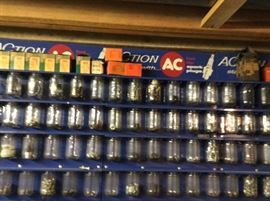 12 ACTION AC SPARKPLUG CABINETS IN WONDERFUL CONDITION