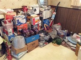 YES WE HAVE 3 ROOMS OF BRAND NEW NEVER USED HOUSEHOLD ITEMS INCLUDING BLENDERS, TOASTERS, DISHES, MIXERS, LAMPS, POTS, PANS, IRONS ETC.