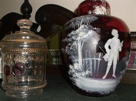 Northwood  and Mary Gregory type glass