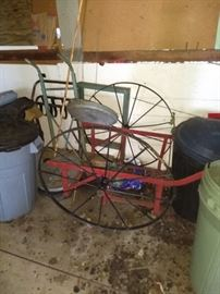Antique Spoke Wheel Wagon