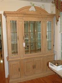 COMMANDING CHINA CABINET AVAILABLE FOR EARLY SALE.  $375.00.